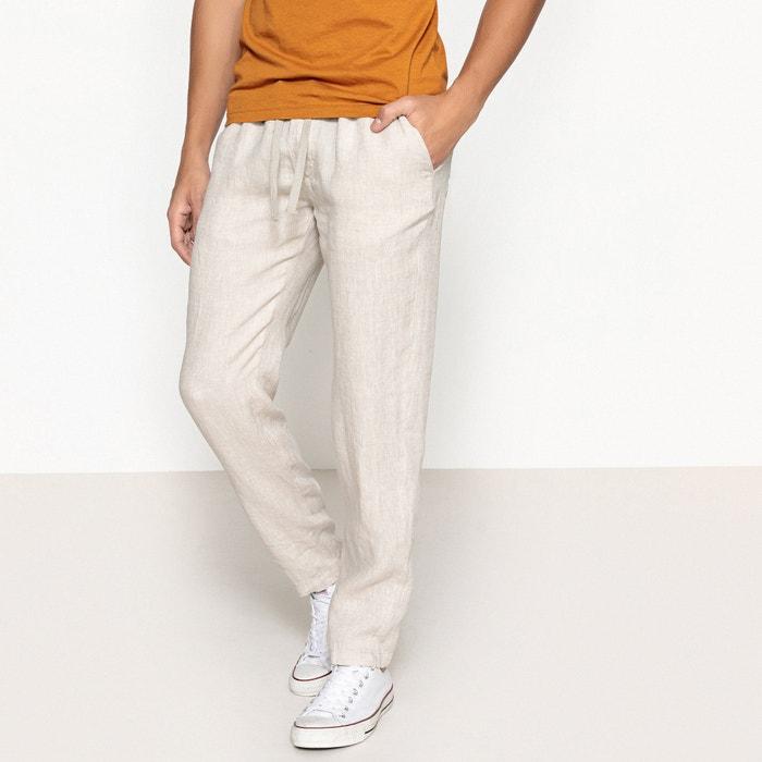 Pantaloni in lino vita elasticizzata  La Redoute Collections image 0