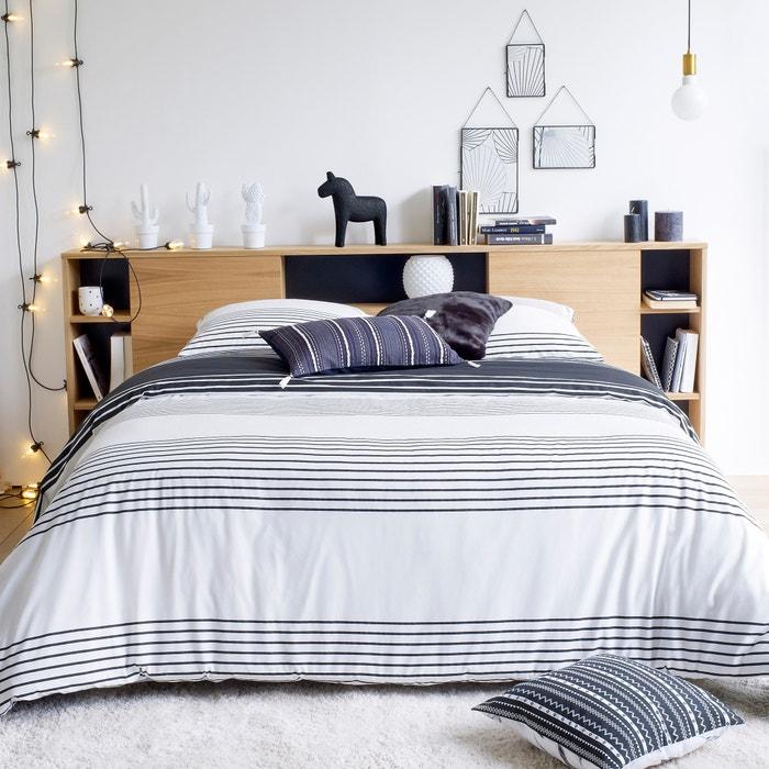 ea963e6e1e9 Cabecero de cama xl con organización biface madera clara roble La Redoute  Interieurs