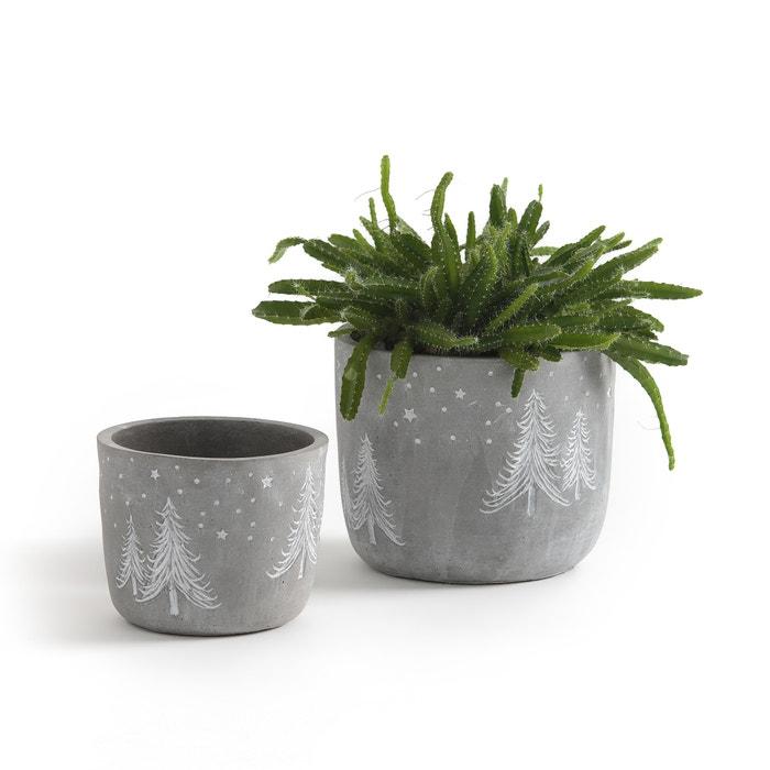 cache pots de no l potero lot de 2 la redoute interieurs ciment la redoute. Black Bedroom Furniture Sets. Home Design Ideas