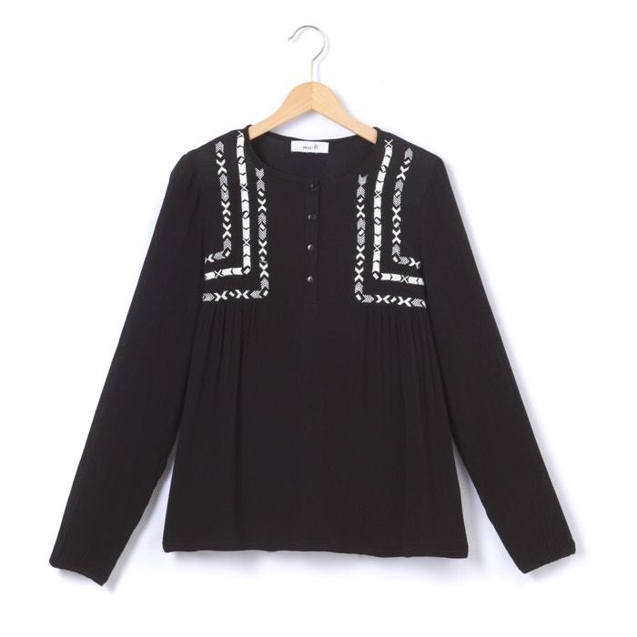afbeelding Geborduurde blouse met lange mouwen La Redoute Collections