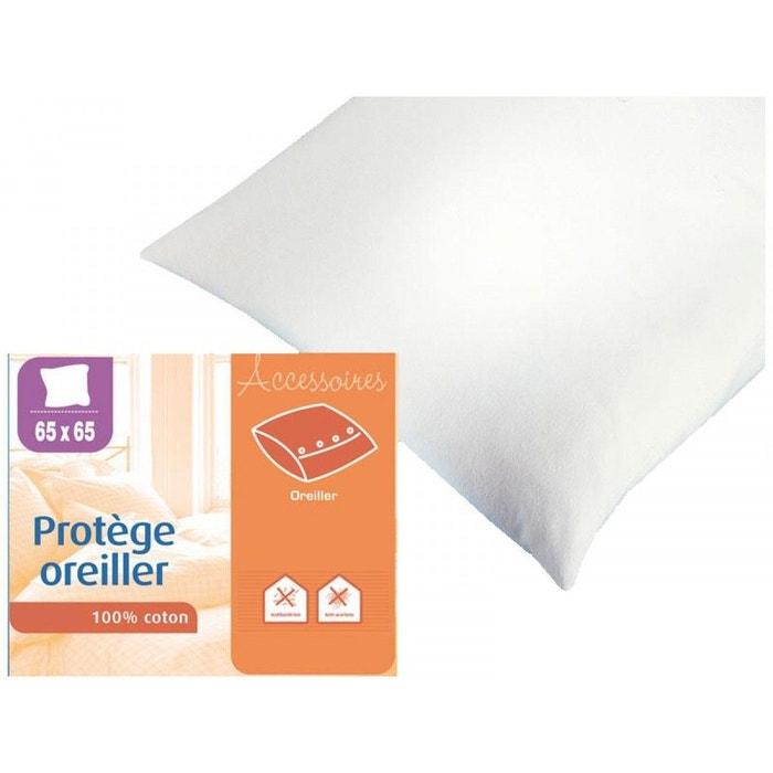 prot ge oreiller 100 coton blanc sweetnight la redoute. Black Bedroom Furniture Sets. Home Design Ideas