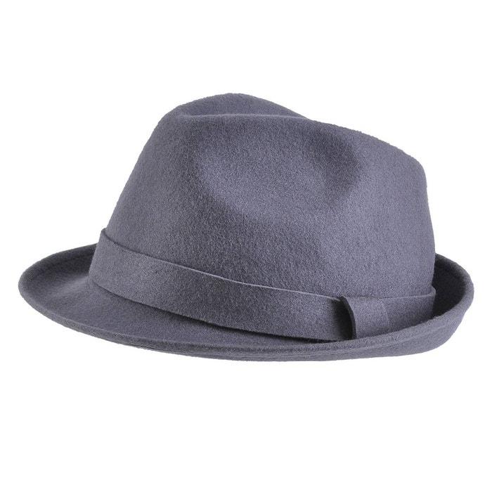Jeu Bonne Vente 100% Garanti En Ligne Chapeau feutre laine trilby gris gris Mokalunga | La Redoute Vente Bonne Vente 1um9q85