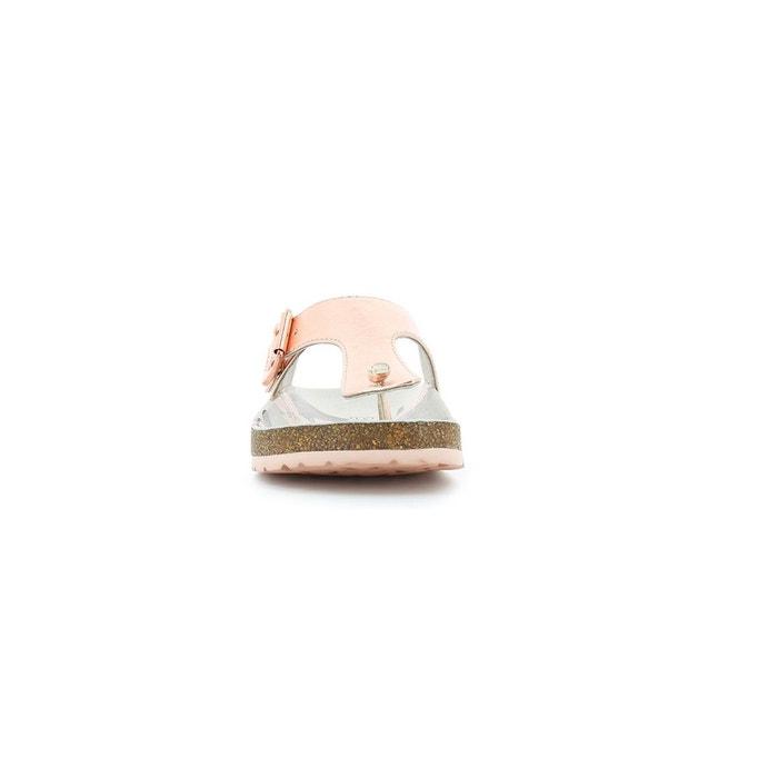 Sandales et nu-pieds pu metallized enfant magnestor metallise rose Kickers