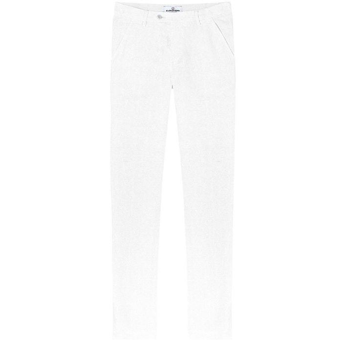 Dylan - pantalon en lin décontracté blanc blanc Europann   La Redoute 23acfa5a2b58