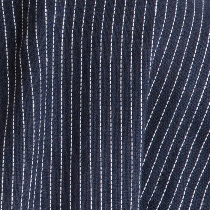 651e47f2c88 Блузка на пуговицах с v-образным вырезом и короткими рукавами barbara темно- синий  белый Garance Paris