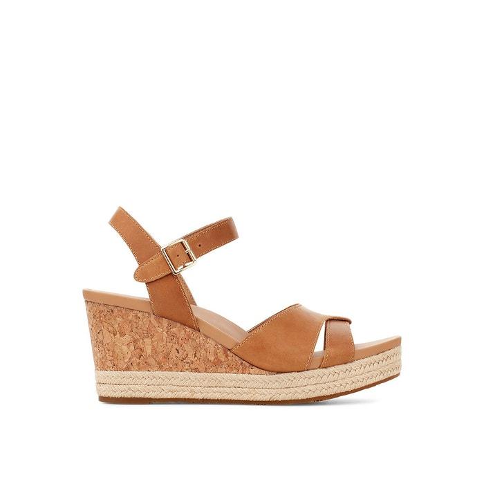 Sandales compensées en cuir Cloverdale