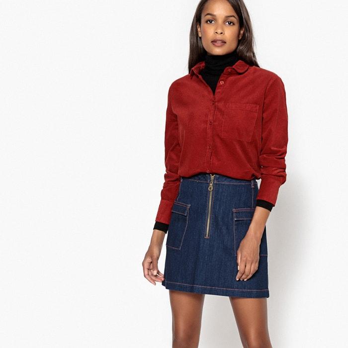 Chemise en velour manches longues la redoute collections la redoute - La redoute reduction prix rouge ...