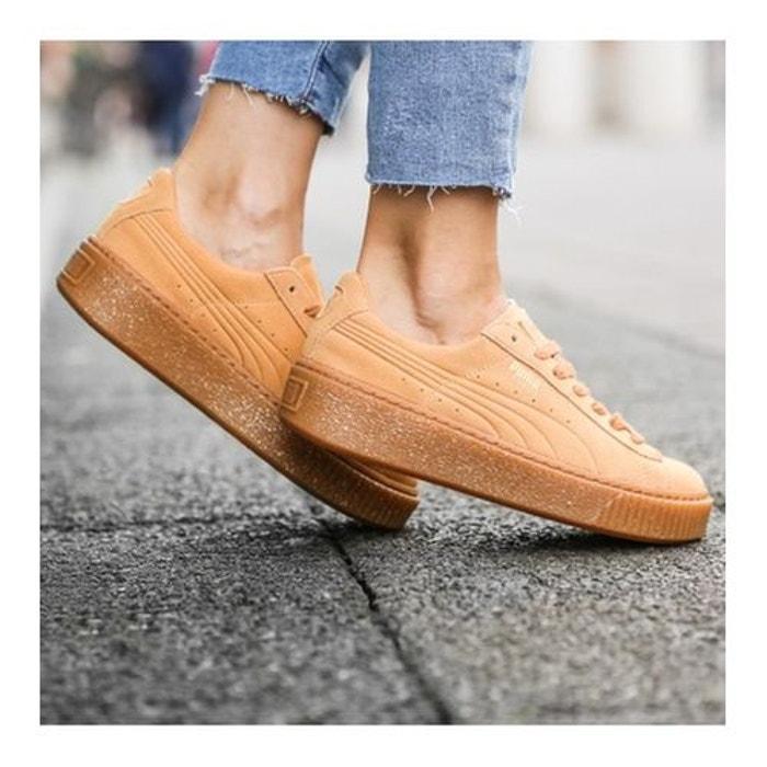 Chaussures  suede platform speckled biscuit  brun Puma  La Redoute
