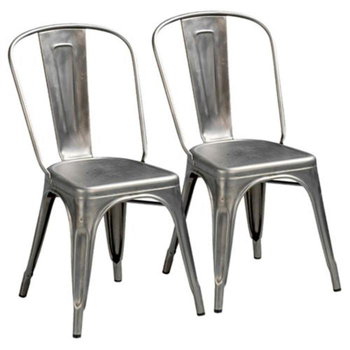 Chaise tolix lot de 2 am pm la redoute for La redoute chaise