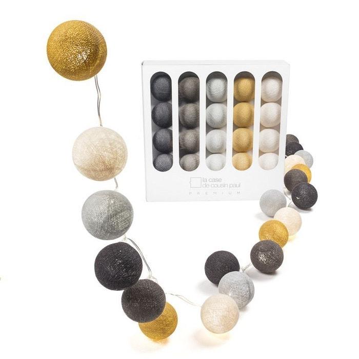 guirlande lumineuse led 20 boules thelonious les marrons. Black Bedroom Furniture Sets. Home Design Ideas