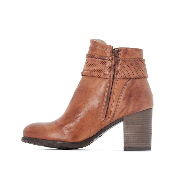 Boots cuir willa cognac Dkode
