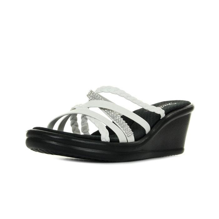 Sandales femme rumblers wild child  noir/blanc Skechers  La Redoute