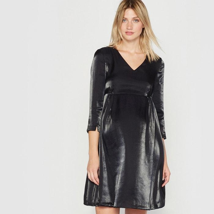 Imagen de Vestido de embarazo efecto metalizado R essentiel