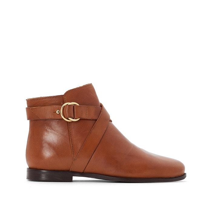 Boots pelle con cinturini  La Redoute Collections image 0