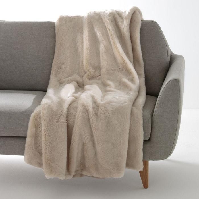 plaid fa on fourrure kanpur la redoute interieurs la redoute. Black Bedroom Furniture Sets. Home Design Ideas