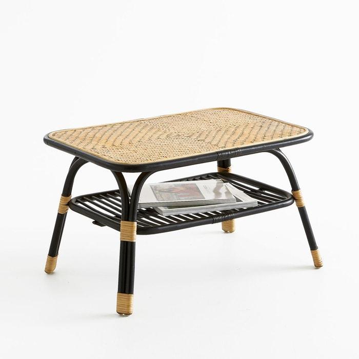 table basse rotin nihov naturel noir la redoute interieurs en solde la redoute. Black Bedroom Furniture Sets. Home Design Ideas