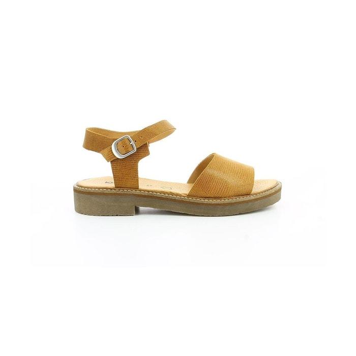Sandale cuir femme europea dark yellow Kickers Réduction Profiter Approvisionnement En Vente Sast Pas Cher En Ligne XkIQP