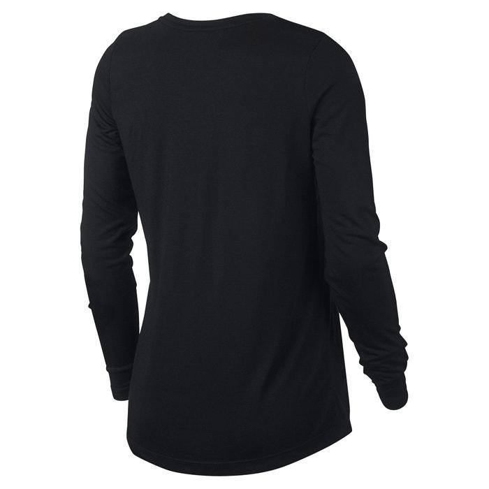 logotipo manga y NIKE Sportswear de con larga redondo Camiseta cuello qwx48Cw1f