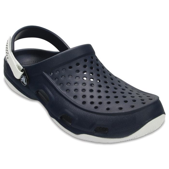 Crocs SWIFTWATER DECK CLOG Marine / Blanc csZchy