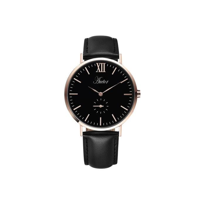Montre avec bracelet en cuir la classique noir Auctor Watches | La Redoute Vente Paiement De Visa SavCVnjddH