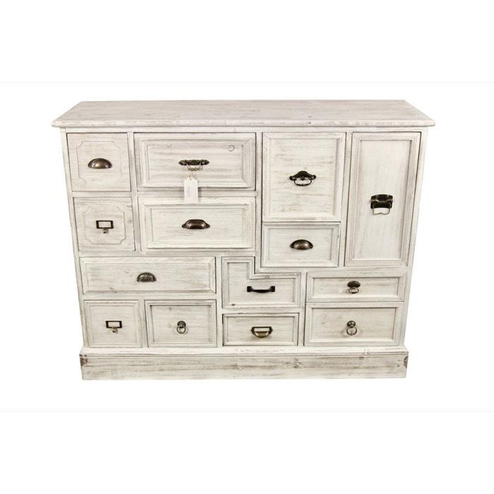 elegant decoration duautrefois meuble semainier chiffonnier grainetier bois tiroirs ceruse blanc. Black Bedroom Furniture Sets. Home Design Ideas