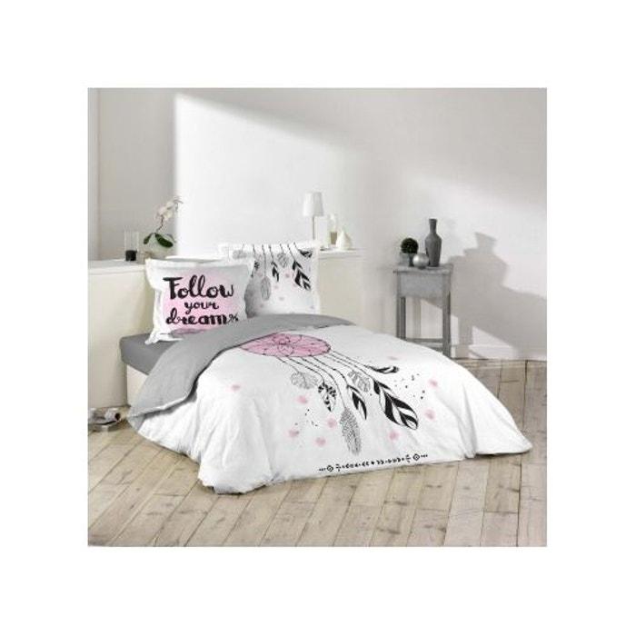 parure de lit imprim e follow your dreams multicolors douceur d 39 int rieur la redoute. Black Bedroom Furniture Sets. Home Design Ideas