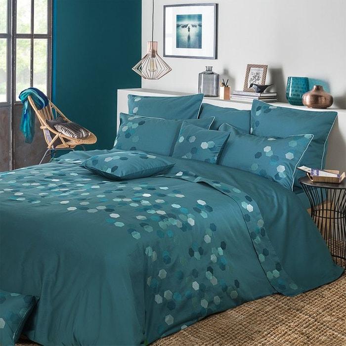 housse de couette hexagones petrole bleu garnier thiebaut. Black Bedroom Furniture Sets. Home Design Ideas