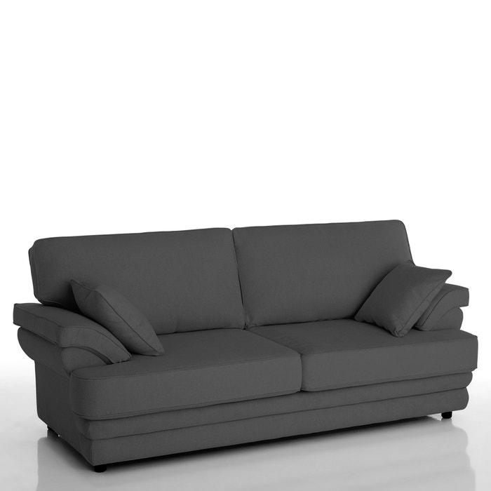 afbeelding 2- of 3-zit canapé, vast, uitstekend comfort, microvezel, Newcastle La Redoute Interieurs