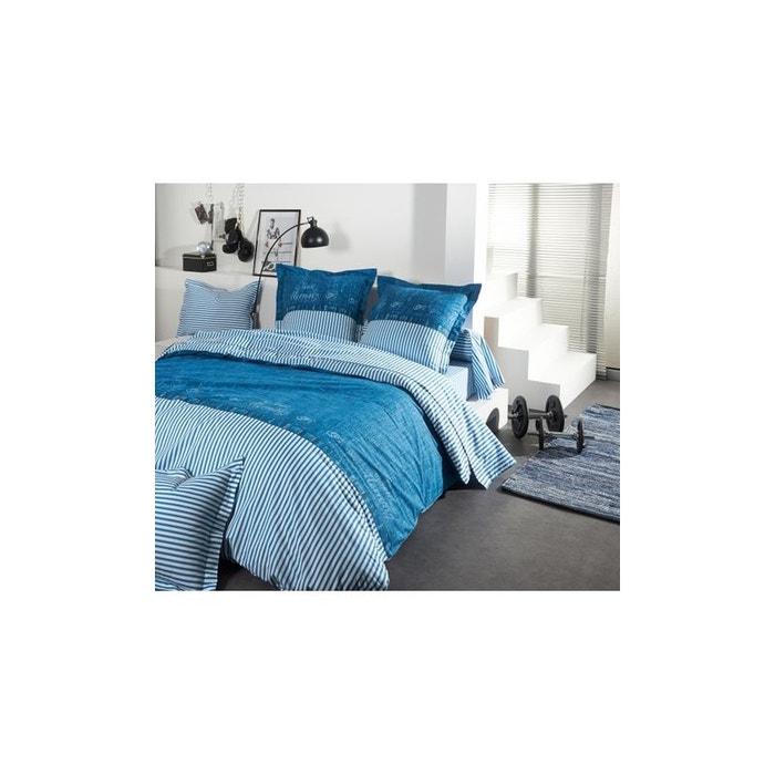 drap new morning imprim s bleu bleu home maison la redoute. Black Bedroom Furniture Sets. Home Design Ideas