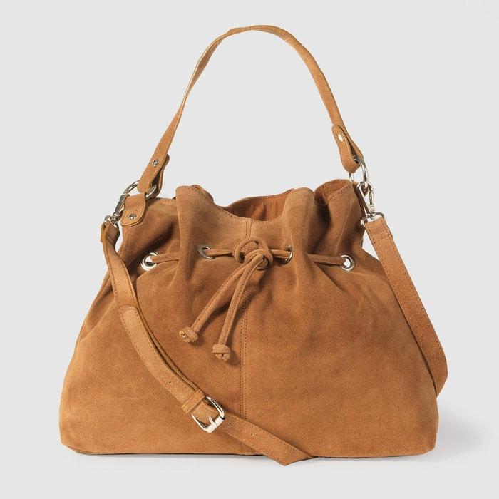 le sac seau souple en cuir camel la redoute collections la redoute. Black Bedroom Furniture Sets. Home Design Ideas
