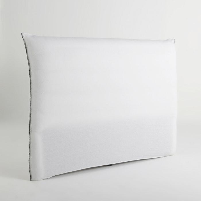Housse pour t te de lit pam am pm blanc la redoute for Housse tete de lit la redoute