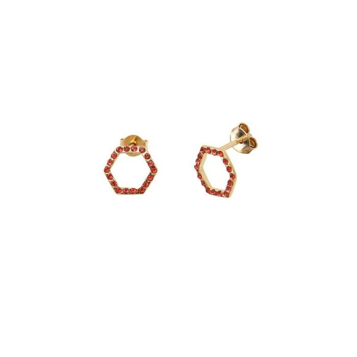 Boucles d'oreilles puces dorées padparadscha honey bee rose framboise Caroline Najman | La Redoute Forfait De Compte À Rebours À Vendre JUdszQa