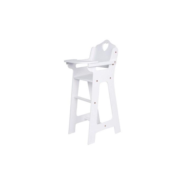 chaise haute coeur blanche couleur unique legler la redoute. Black Bedroom Furniture Sets. Home Design Ideas