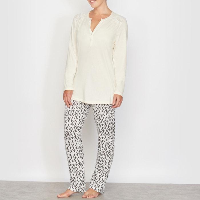 afbeelding Pyjama in katoen & modal CASTALUNA