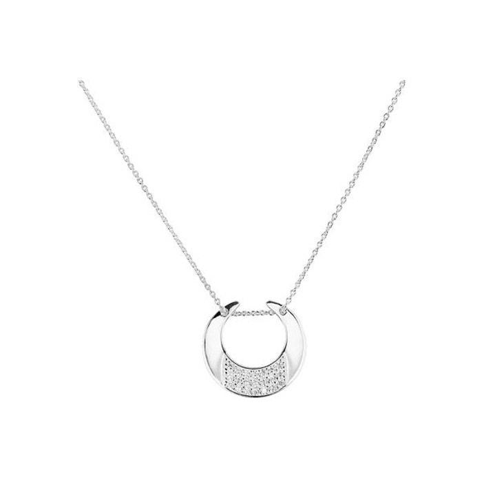 Collier ras de cou clair de lune en argent 925, brillants, 4.5g argent Clio Blue | La Redoute