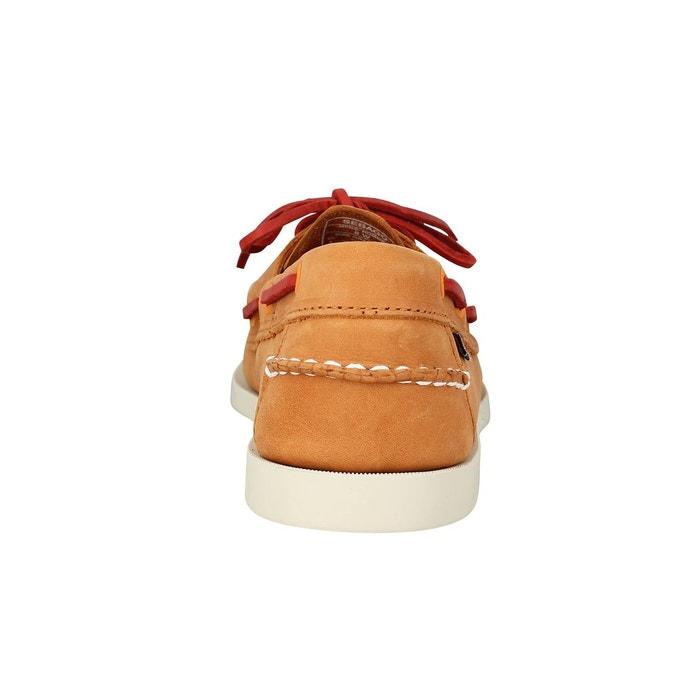 Chaussures bateaux SEBAGO Docksides velours OrangeSebago yRGsqR3e