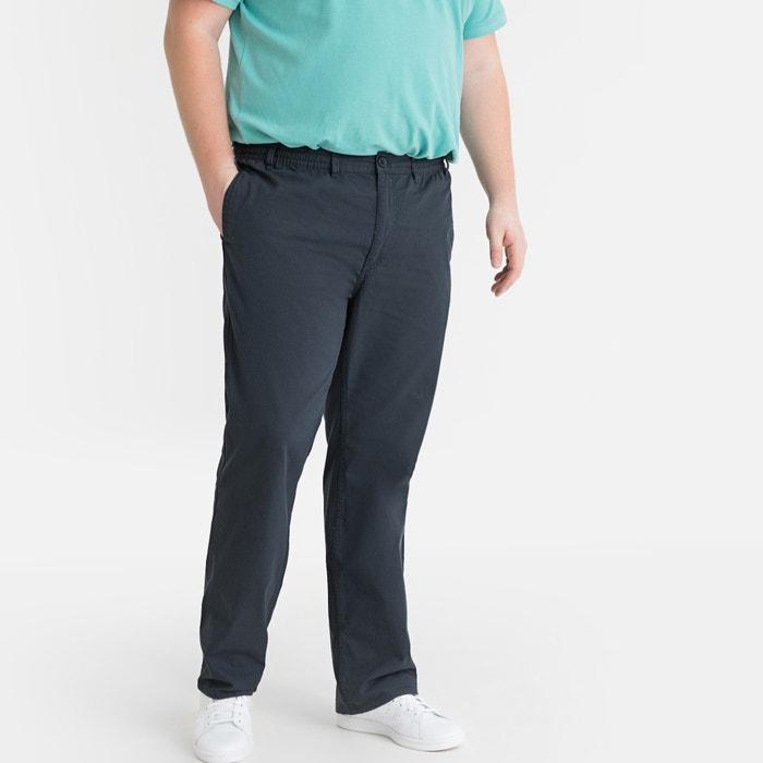 Length 36 La Redoute Collection Plus Mens Elasticated Waist Cotton Trousers