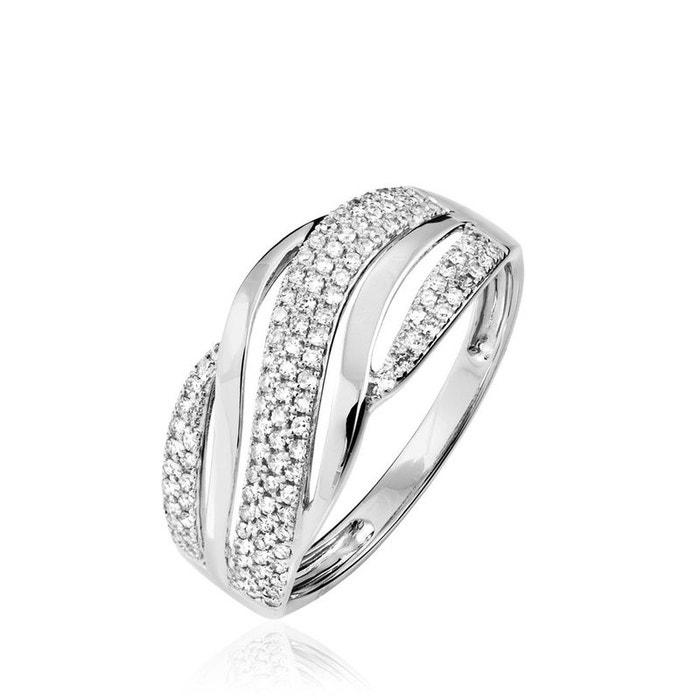 Extrêmement Pas Cher Bague phaedra or blanc vague diamants blanc Histoire D'or | La Redoute Jeu De Haute Qualité sVqPXYlnq1