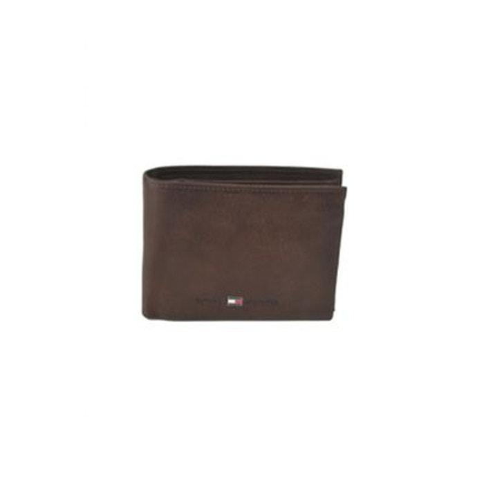 Tommy Hilfiger Eton Cc Flap And Coin Pocket Porte-monnaie Portefeuille Noir NEUF