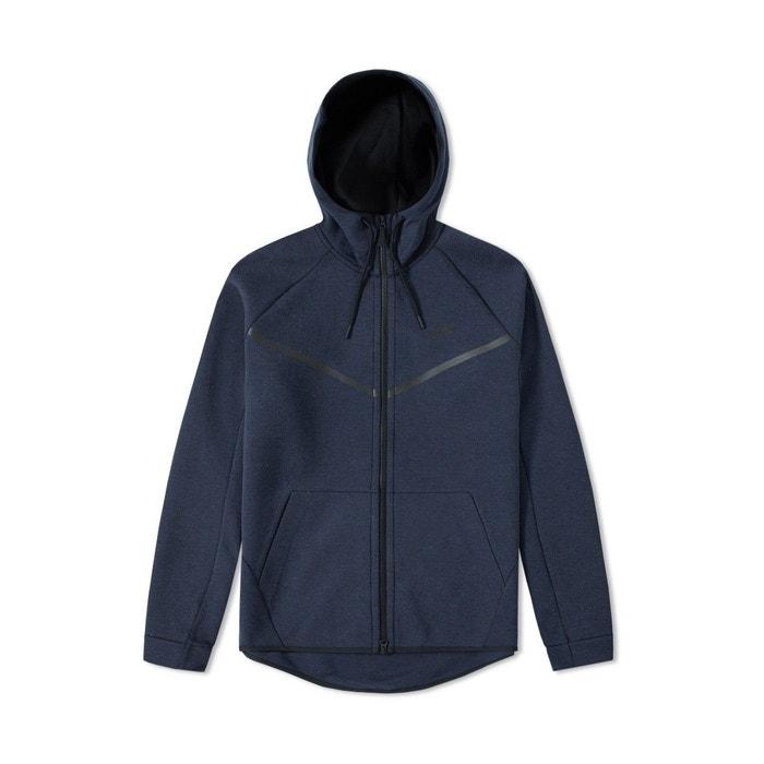 Sweat tech fleece windrunner bleu Nike   La Redoute 13e0bf02813e
