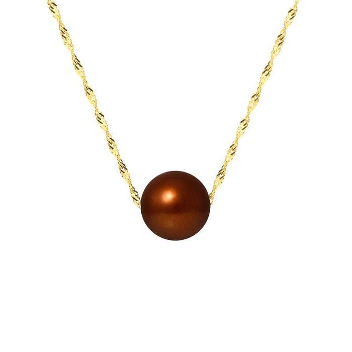 Collier chaine or 375°°° véritable perle marron Perlinstinct | La Redoute Jeu Très Pas Cher Moins De 50 Dollars Réduction Classique Style De Mode 3sLdAGfk