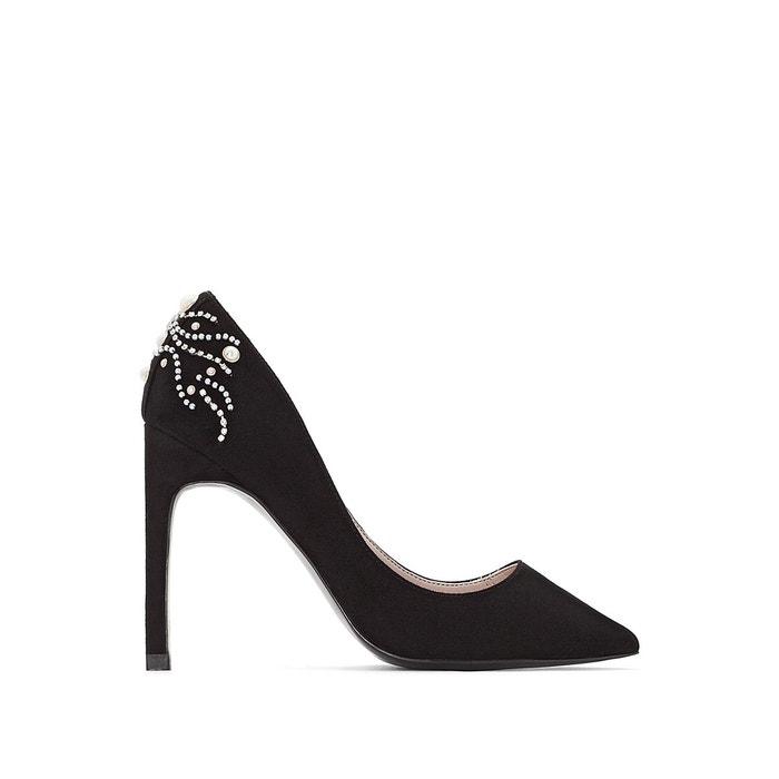 Escarpins détail bijoux noir Mademoiselle R