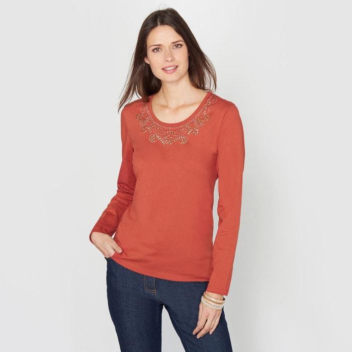 Image T-shirt in gekamd zuiver katoen ANNE WEYBURN