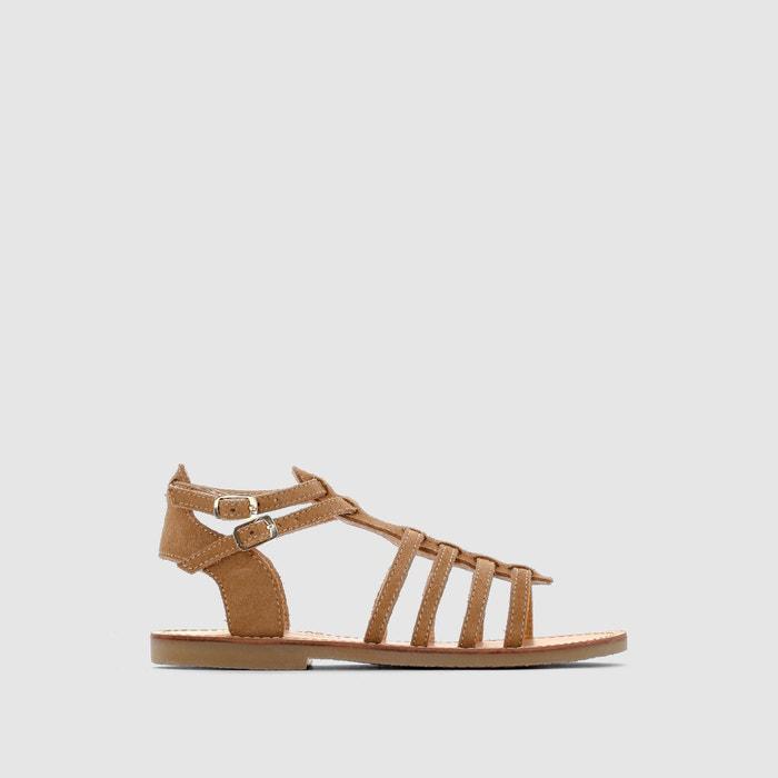 Girls Leather Gladiator Sandals