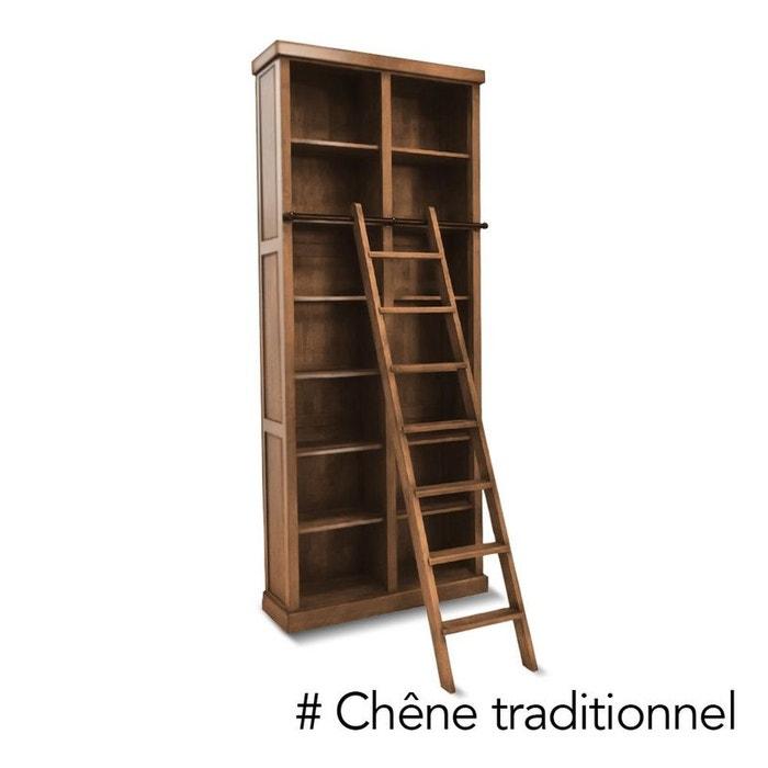 Biblioth que chelle bois h v a massif tradition ch ne - La redoute meuble bibliotheque ...