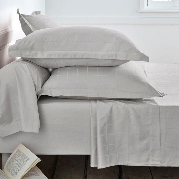 Taie satin de coton grands carreaux la redoute interieurs la redoute - Linge de lit la redoute fr ...