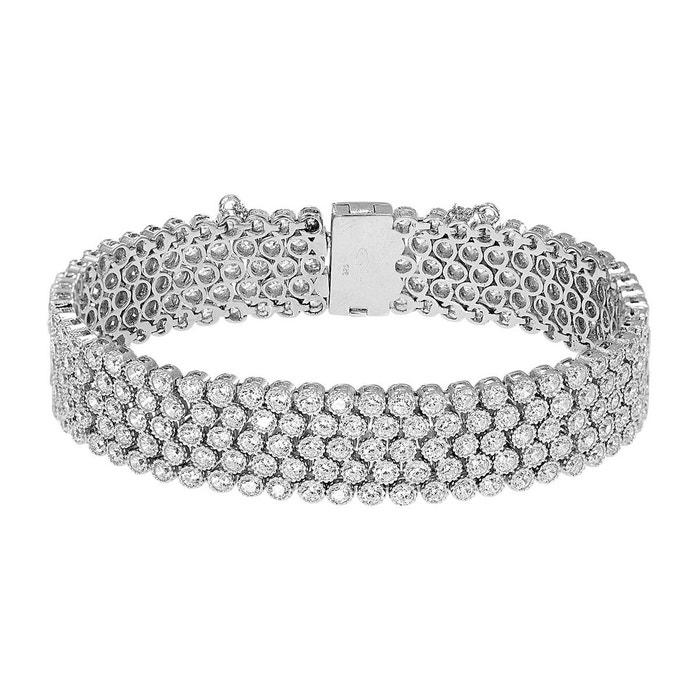 Bracelet argent 925/1000 oxyde blanc Cleor | La Redoute Meilleure Vente QRik5AxePg
