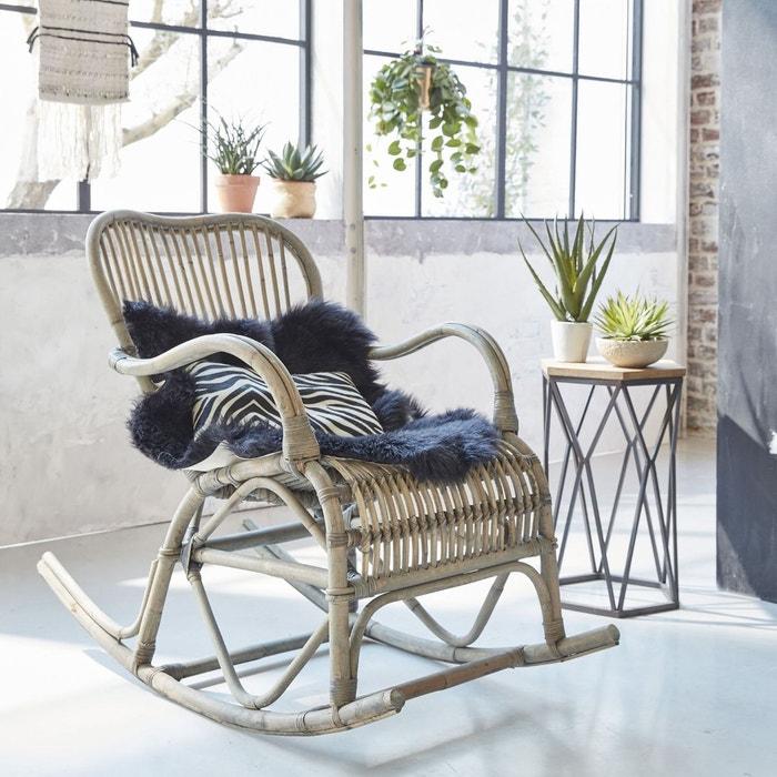 rocking chair vintage en rotin vdl bois made in meubles. Black Bedroom Furniture Sets. Home Design Ideas