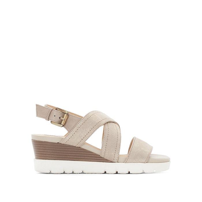 Sandales cuir compensées d marykarmen p.b   beige Geox   La Redoute