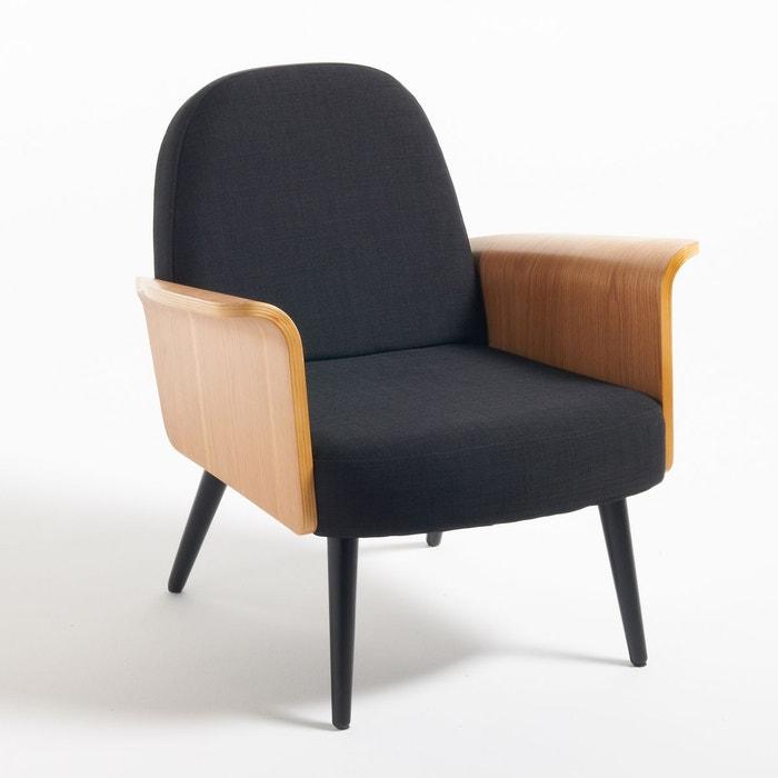 fauteuil accoudoirs bois biface noir la redoute interieurs la redoute. Black Bedroom Furniture Sets. Home Design Ideas